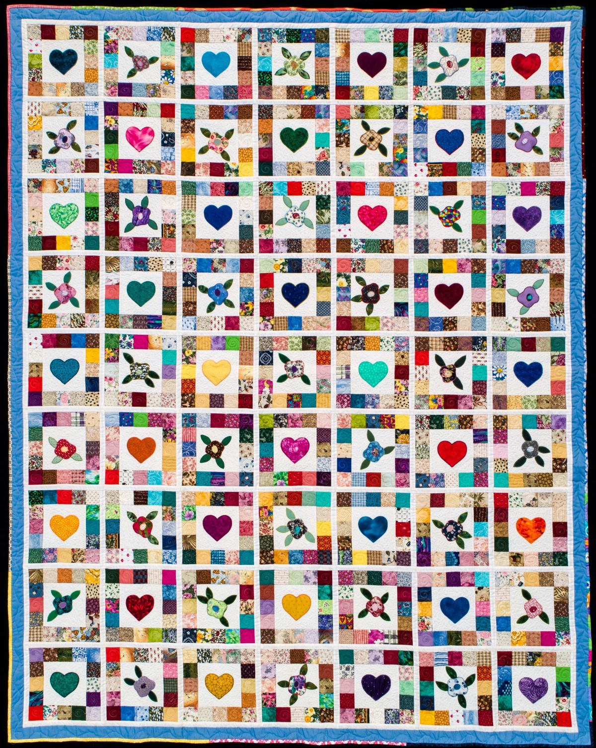 2018 Opportunity Quilt Hearts and Flowers